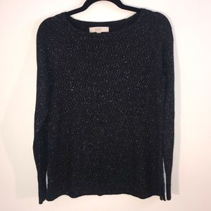 Loft Black Sparkle Sweater
